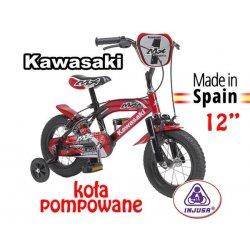 Injusa Rower Kawasaki z bocznymi kółkami 12'' BMX rowerek tradycyjny