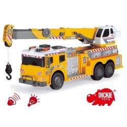 Dickie Żółty Dźwig Ciężarówka Światło Dźwięk
