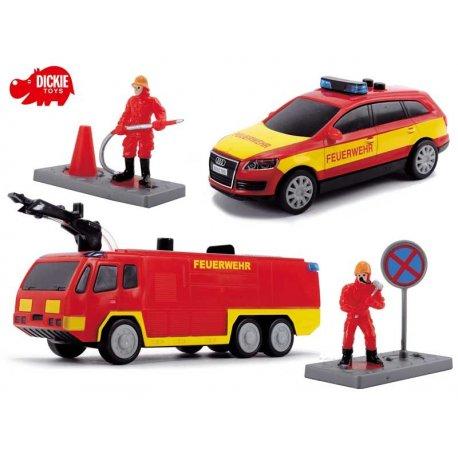DICKIE SOS Drużyna strażacka - zestaw 2 pojazdy
