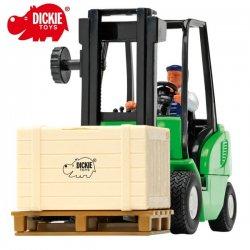 Dickie Zielony Wózek Widłowy Cargo Master + Palety i Figurka Kierowcy