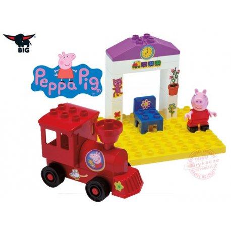 Big Klocki Świnka Peppa w pudełku Stacja Kolejowa z Lokomotywą