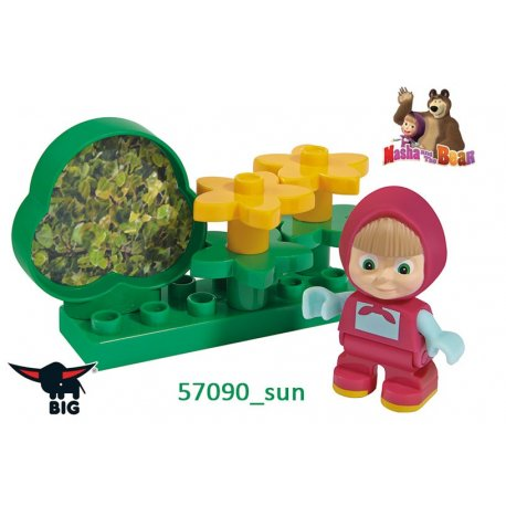 Big Klocki Masza i Niedźwiedź Zestaw ogrodowy z figurką Masza