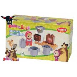 Big Klocki Masza i Niedźwiedź Zestaw Masza w kuchni + figurka