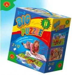 Alexander Gra Big Puzzle II do kolorowania + Kolorowe kredki