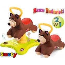 SMOBY Skoczek Bujawka JEŹDZIK 2w1 MASZA i Niedźwiedź Bujak