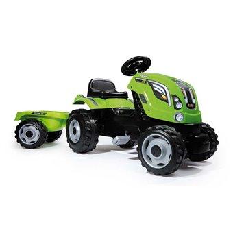 SMOBY Traktor na pedały XL z przyczepą - Zielony