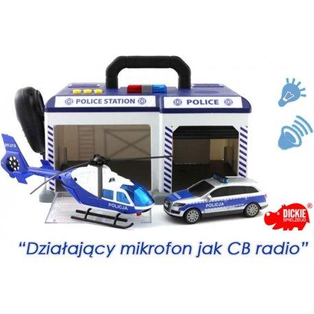 Baza Ratunkowa Policyjny Samochód Helikopter Światło Dźwięk