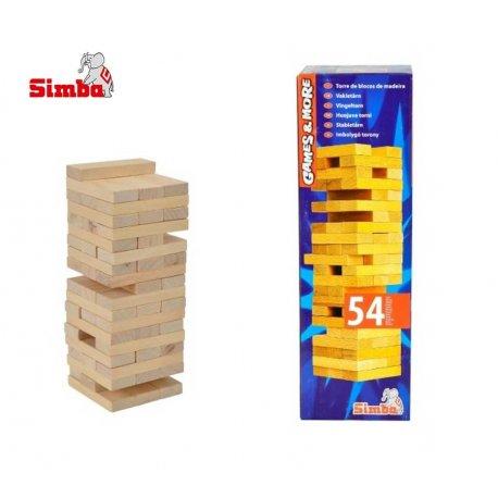 Simba Gra Jenga Chwiejąca Się Wieża Klocki 5-99lat