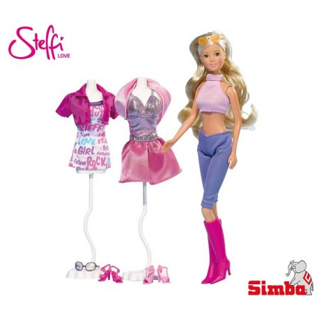 Simba Lalka Steffi Love Steffi z ubrankami 2 rodz, 13 akcesoriów