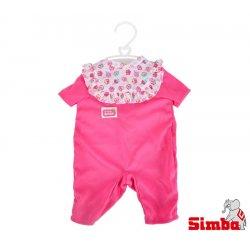 Simba Ubranko dla lalki New Born Baby różowe + pieluszka grzechotka Gratis