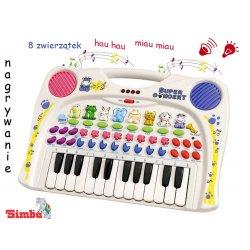 Simba Keyboard Interaktywne Pianinko - organki Zwierzęta