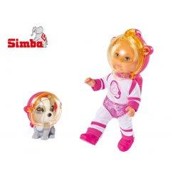 SIMBA Lalka Evi Love Astronautka z pieskiem