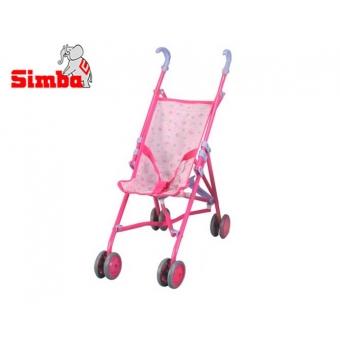 Wózek dla lalek Spacerówka Simba 60 cm Różowy