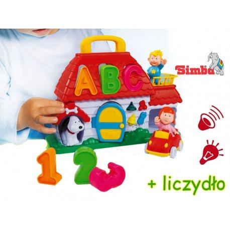 Simba ABC domek edukacyjny interaktywny sorter kształtów światło dźwięk 10 el.