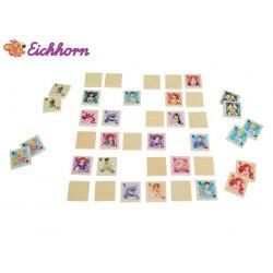 Eichhorn Gra Zapamiętywanka Drewniane Puzzle Disney Księżniczka 40 el.