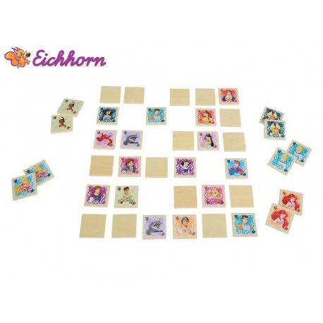 Simba Disney Księżniczki Gra Zapamiętywanka Drewniane Puzzle Disney 40 el.