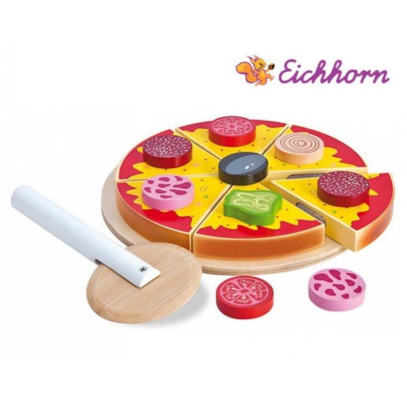 Eichhorn Pizza Zestaw Drewniany  Brykacze pl  zabawki   -> Eichhorn Kuchnia Dla Dzieci