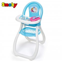 SMOBY Krzesełko Do Karmienia ze stoliczkiem Frozen z akcesoriami Kraina Lodu