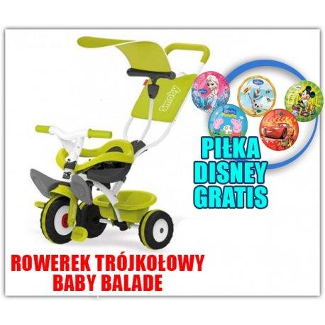 Smoby Rowerek Trójkołowy Ciche Koła Baby balade 3 w 1