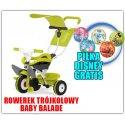Smoby Rowerek Trójkołowy Ciche Koła Baby balade 3 w 1 + Piłka Disney GRATIS