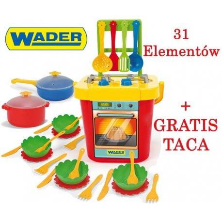 Wader Kolorowa Kuchnia Z Naczyniami Akcesoria 31 Elementów