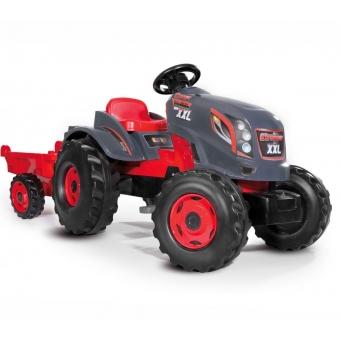 Ogromny Traktor XXL Stronger z Przyczepą Smoby + Kask firmy Wader w prezencie!