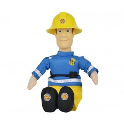 SIMBA Strażak SAM Maskotka figurka Strażaka Sam Pluszak Siedzi 25cm