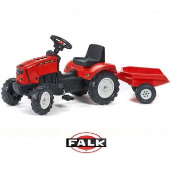 FALK Lander czerwony Traktor na pedałki z otwieraną maską