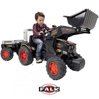 Falk Ogromny Traktor KING 900GM z przyczepą i Łyżką