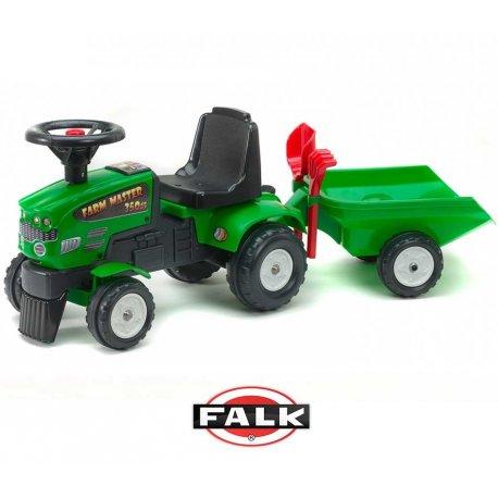 FALK Jeździk Traktor chodzik Farm Mustang + przyczepa 1-3 lata