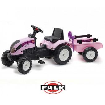 FALK Traktor Princess z przyczepą i zestawem do piasku