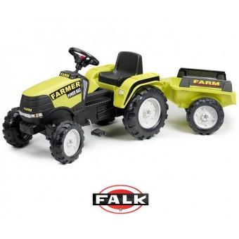 FALK Traktor Na Pedały Farmer Przyczepka