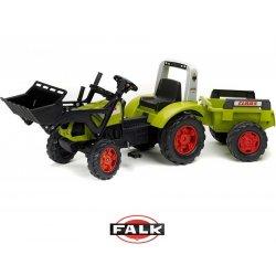 FALK duży Traktor CLAAS Arion 430 z łyżką i przyczepą jednoosiową 3-7 lat