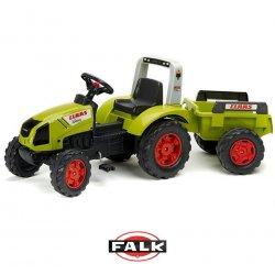FALK duży Traktor CLAAS Arion 430 z przyczepą jednoosiową