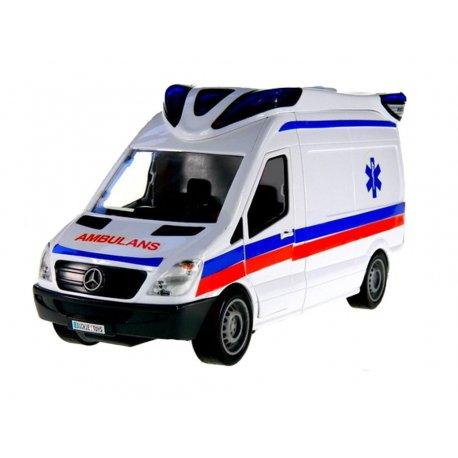 Dickie Samochody SOS Karetka Ambulans Światło Dźwięk
