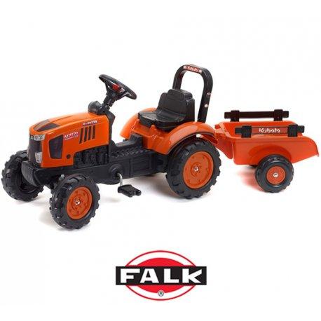 FALK traktor na pedałki Kubota z przyczepką 2-5 lat