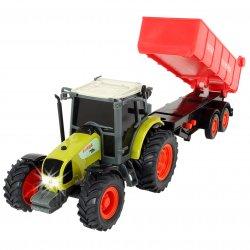 Dickie Traktor Farm Worker z Przyczepą do Piasku Ruchome elementy światło dźwięk