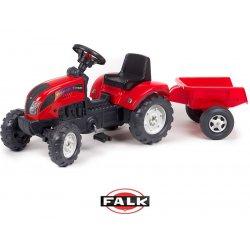 Falk Traktor na pedały RANCH TRAC z przyczepą czerwony