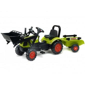 CLAAS Traktor z Przyczepą i Łyżką na pedały FALK