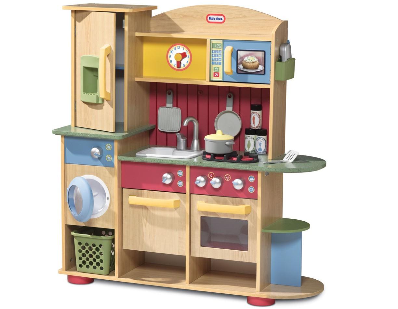 Drewniana Kuchnia zestaw kuchenny pralka Little Tikes -> Kuchnia Little Tikes Czerwona