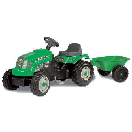 Smoby Traktor GM Bull zielony z przyczepą