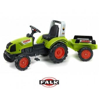 CLAAS Traktor na Pedały z przyczepą FALK