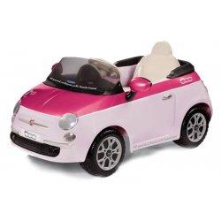 Peg Perego samochód na akumualtor 6V Fiat500 Pink/Fuksja