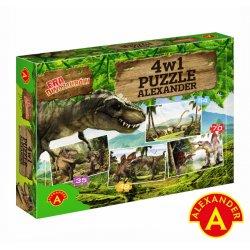 Alexander Puzzle 4 w 1 - Era dinozaurów