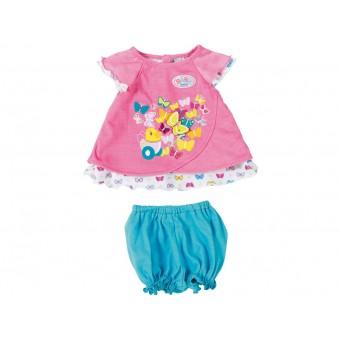 Różowe ubranko z motylkami dla lalki Baby Born