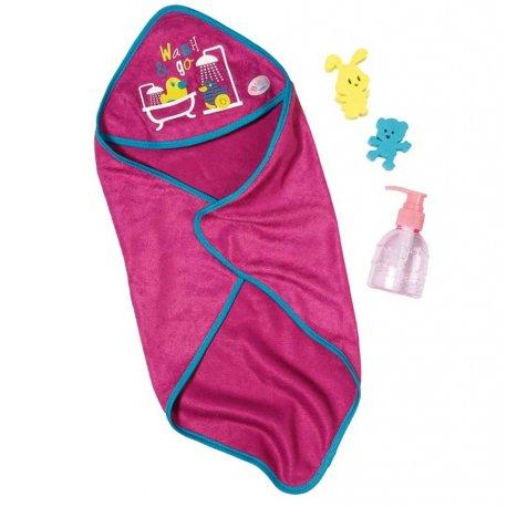Zestaw Kąpielowy dla lalki BABY born ręcznik akcesoria