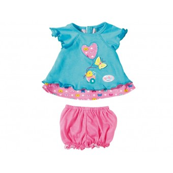 Turkusowe ubranko z motylkami dla lalki Baby Born