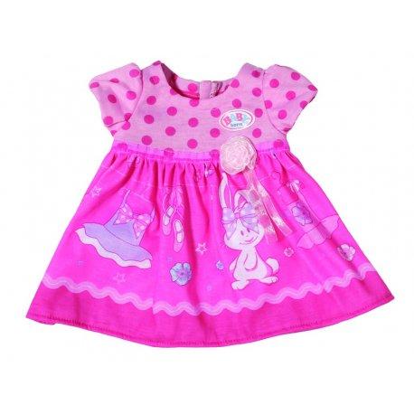 Ubranko dla lalki 43 cm Baby Born sukienka w groszki