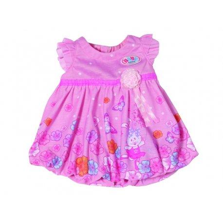 Ubranko dla lalki 43 cm Baby Born sukienka w kwiatki