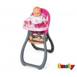 SMOBY Krzesełko Do Karmienia ze stoliczkiem Baby Nurse z akcesoriami